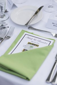 Yountville wedding video - Table Setting