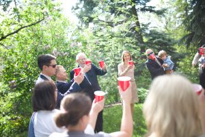 Alberta wedding video - cups