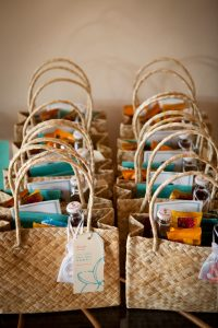 last minute destination wedding details - welcome bags