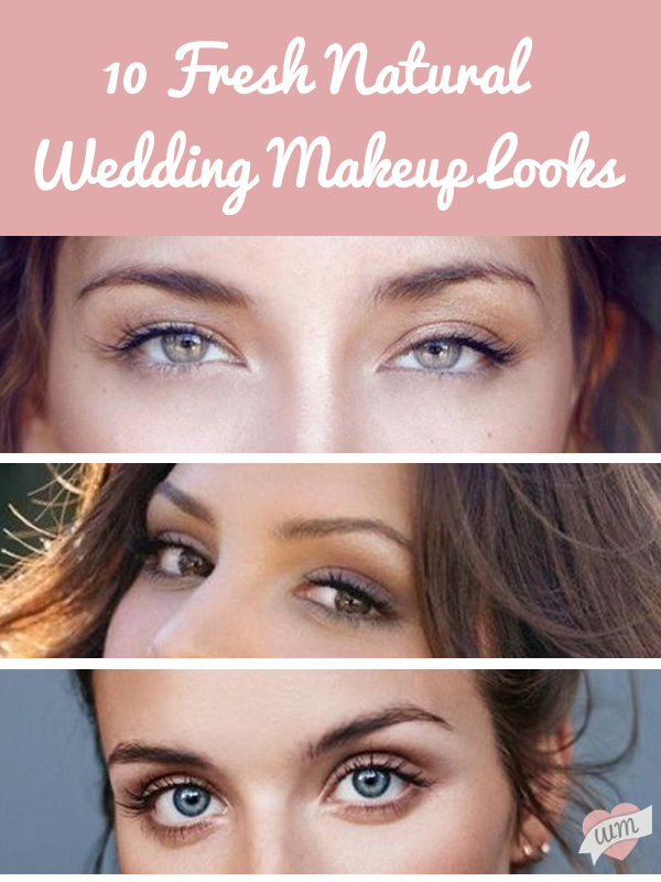 10 Refreshingly Natural Wedding Makeup Looks