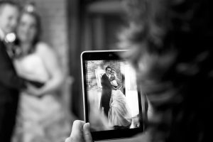 iPad at a Wedding - wedding smartphone etiquette