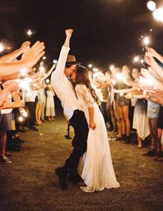 Wedding Sparklers - outdoor wedding inspiration
