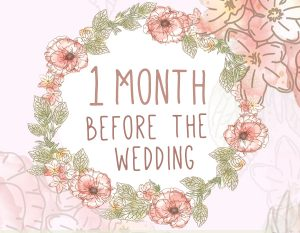 1 month wedding planning checklist
