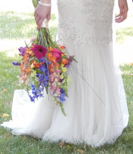 Lehigh Valley wedding video - bouquet and dress details