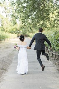 Yountville wedding video - Jumping
