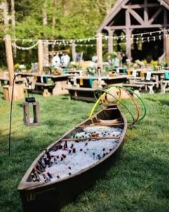 outdoor wedding serving alcohol ideas - outdoor wedding inspiration