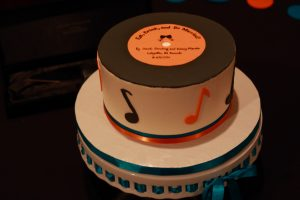 Lafayette wedding video - cake