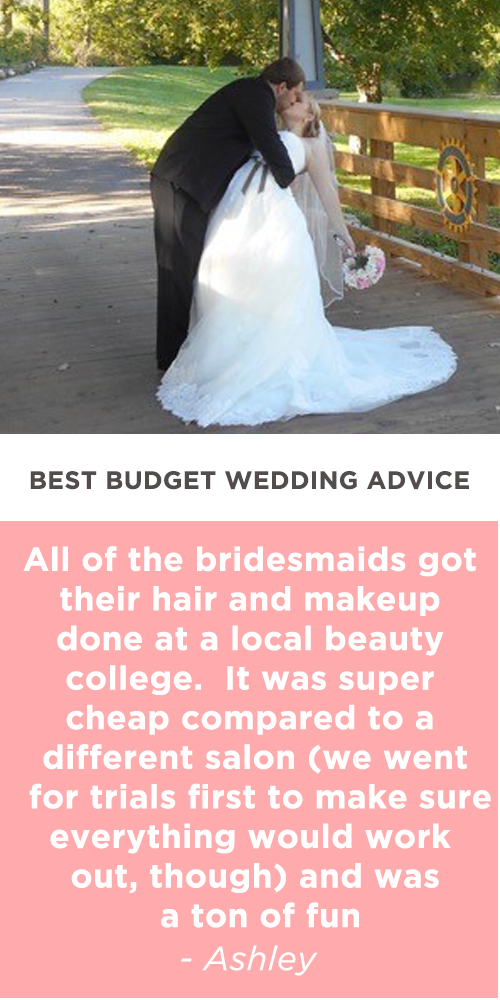 budget wedding advice ashley