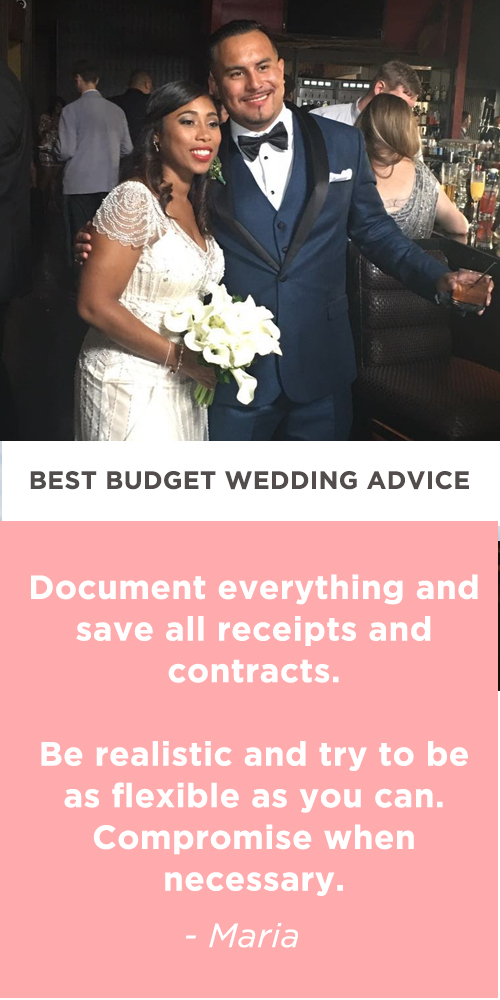 budget wedding advice maria