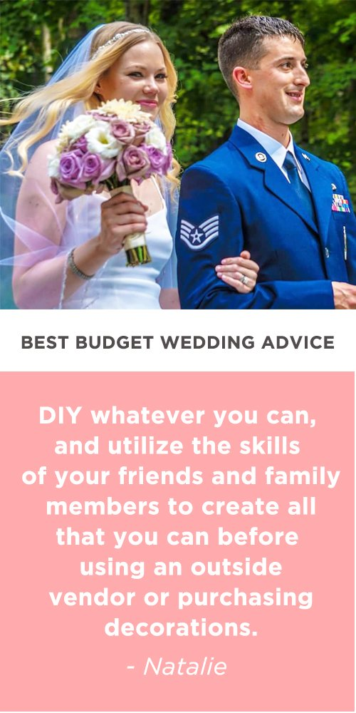 budget wedding advice natalie