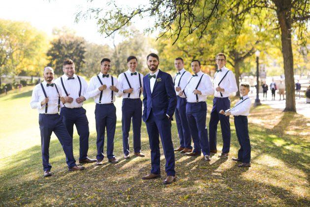 Zac and his groom's men