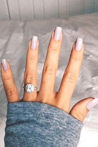 just engaged manicure