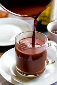 winter wedding planning hot cocoa and red wine