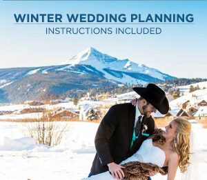 winter wedding planning infographic couple
