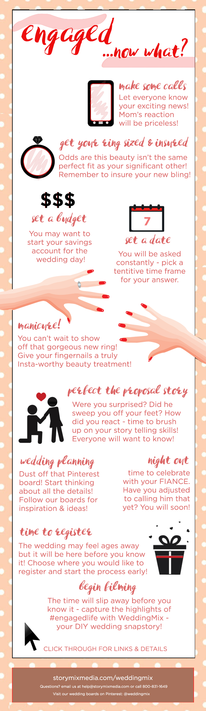 just engaged infographic