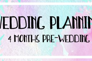 4 month wedding planning infographic opening text