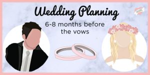 6 month wedding planning header