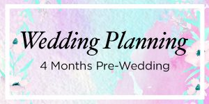 4 month wedding planning header