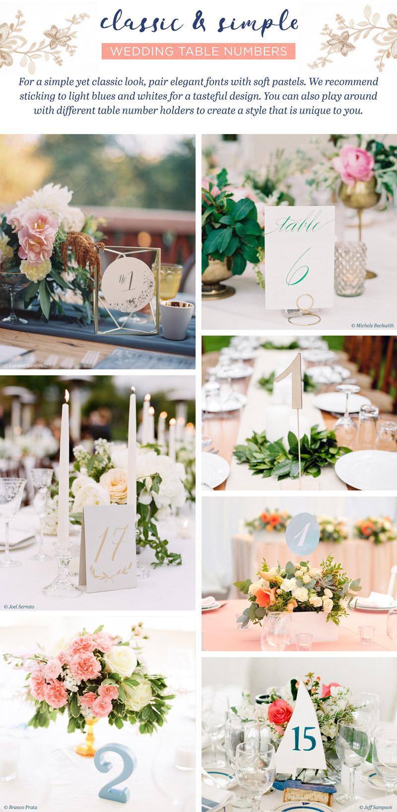 28 Stunning Wedding Table Number Ideas - WeddingMix Blog