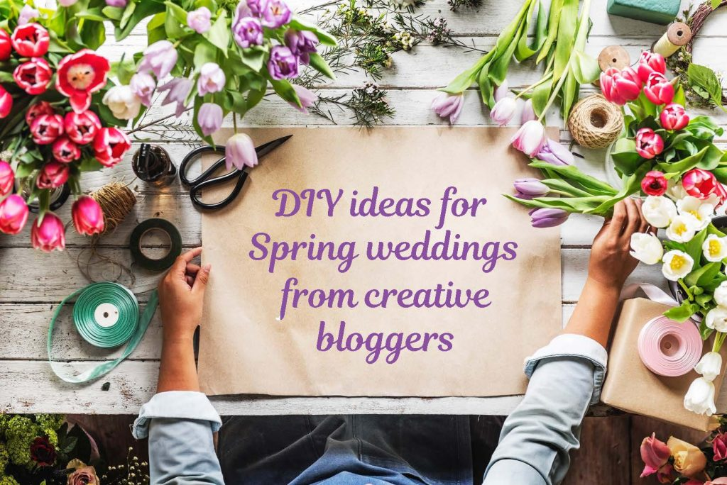 Diy spring wedding ideas from creative bloggers weddingmix blog most weddings tend to have the same look and feel but with spring coming up why not take advantage of the weather heres our list on diy spring wedding junglespirit Image collections