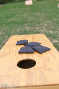 DIY wedding cornhole board