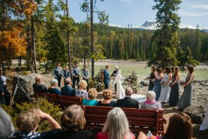 Beautiful wedding in the Canadian Rockies